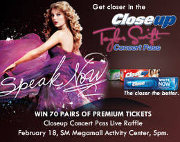 Win Taylor Swift Live In Manila Concert Tickets From Closeup