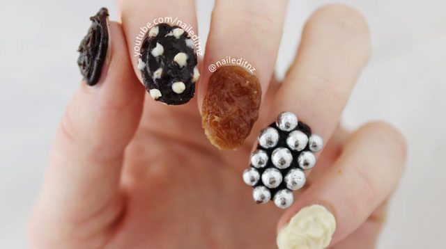 This Chocolate Nail Art Is Very, Very Edible