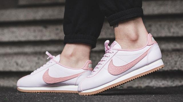 See The Pink Nike Cortez Sneakers Here