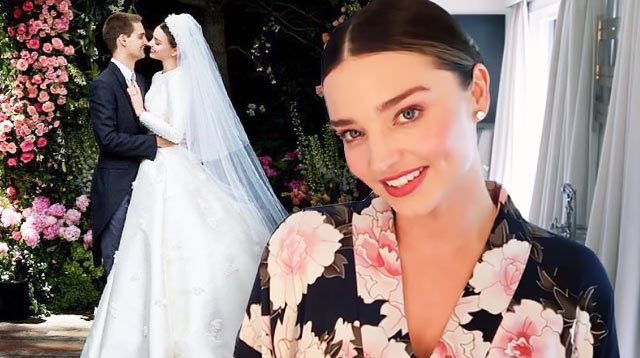 Miranda Kerr Wedding Dress.Miranda Kerr Demonstrates Her Wedding Day Makeup