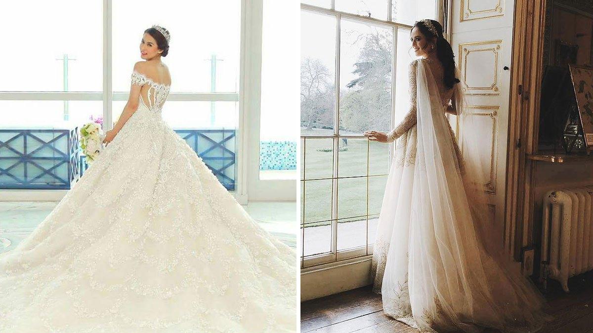 Wedding Trains Of Pinay Celebrity Brides