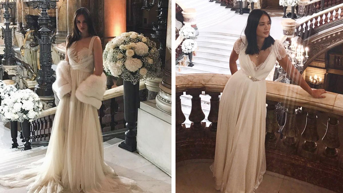 Georgina Wilson And Belle Daza Wore Their Wedding Gowns To Vicki And