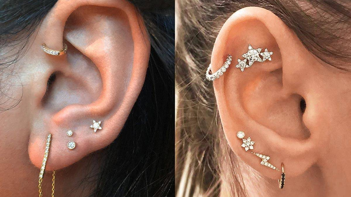 2018 Curated Cluster Ear Piercing Trend