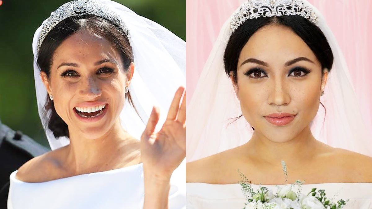 promise phan x meghan markle bridal makeup transformation cosmo ph