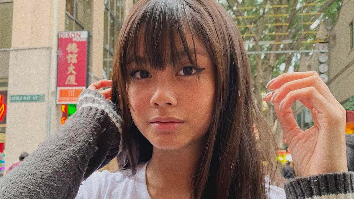 Ylona Garcia With Bangs Hairstyle