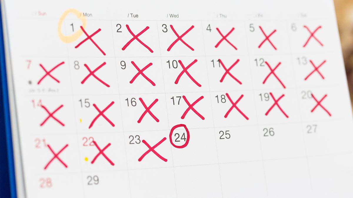 Explaining how to use calendar-based methods   family planning.