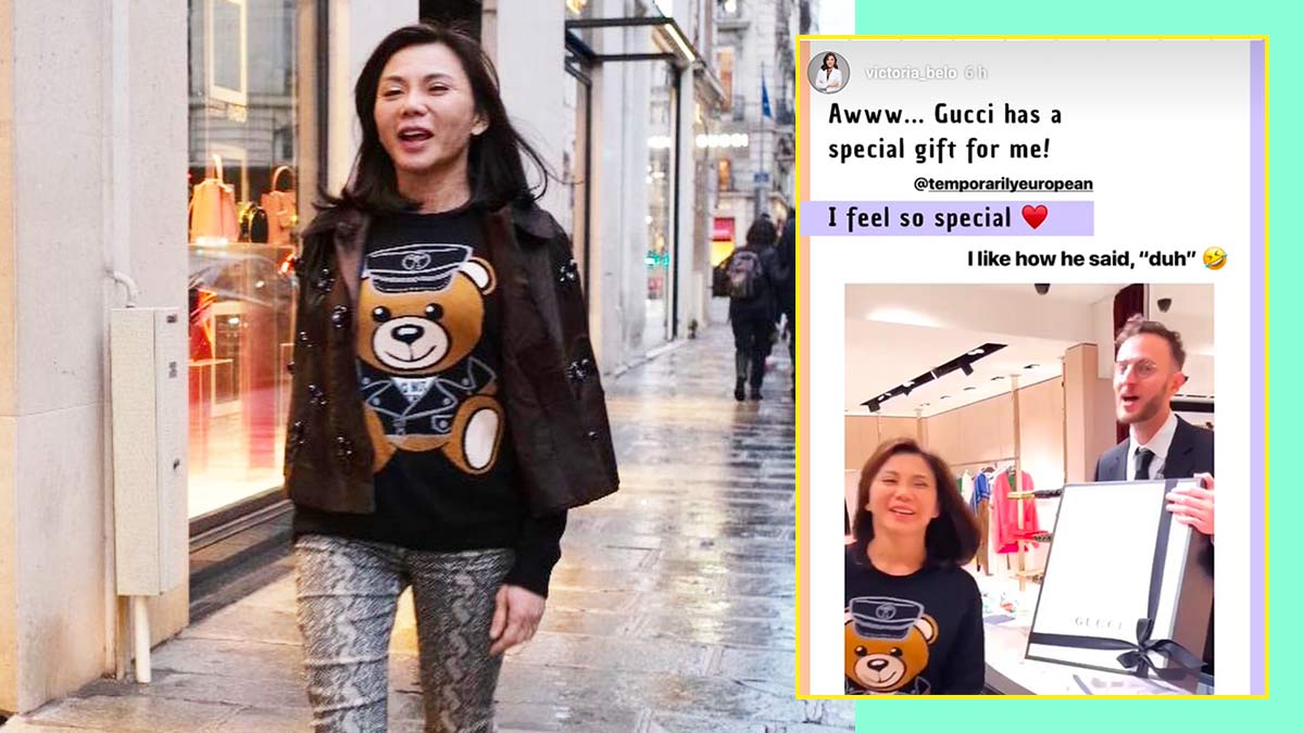 0a1015be7eac Dr. Vicki Belo Receives Weekender Bag Gift From Gucci Paris   Cosmo.ph