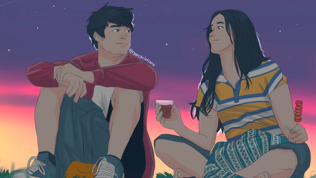 The best alone together fan art starring liza soberano and enrique gil