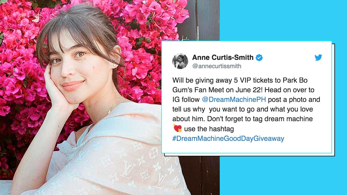 Anne Curtis Gives Away Tickets To Park Bo Gum's Manila Fan Meet