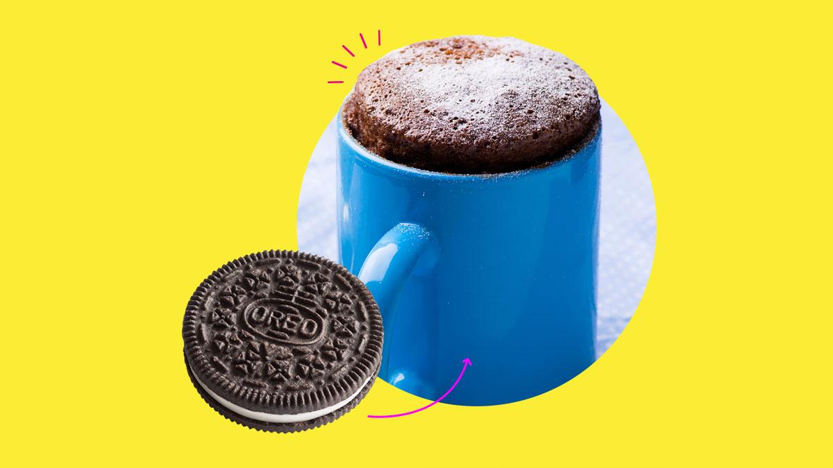 Look 2 Ingredient Oreo Mug Cake Tiktok Recipe