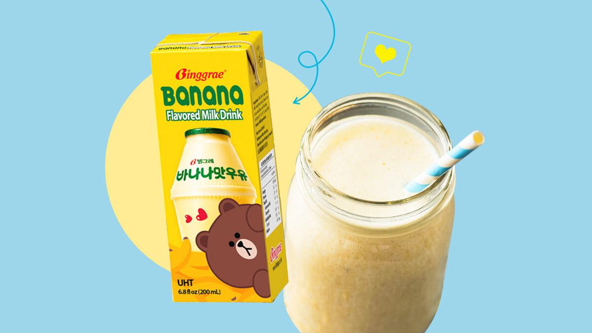 Korean Banana Milk Recipe