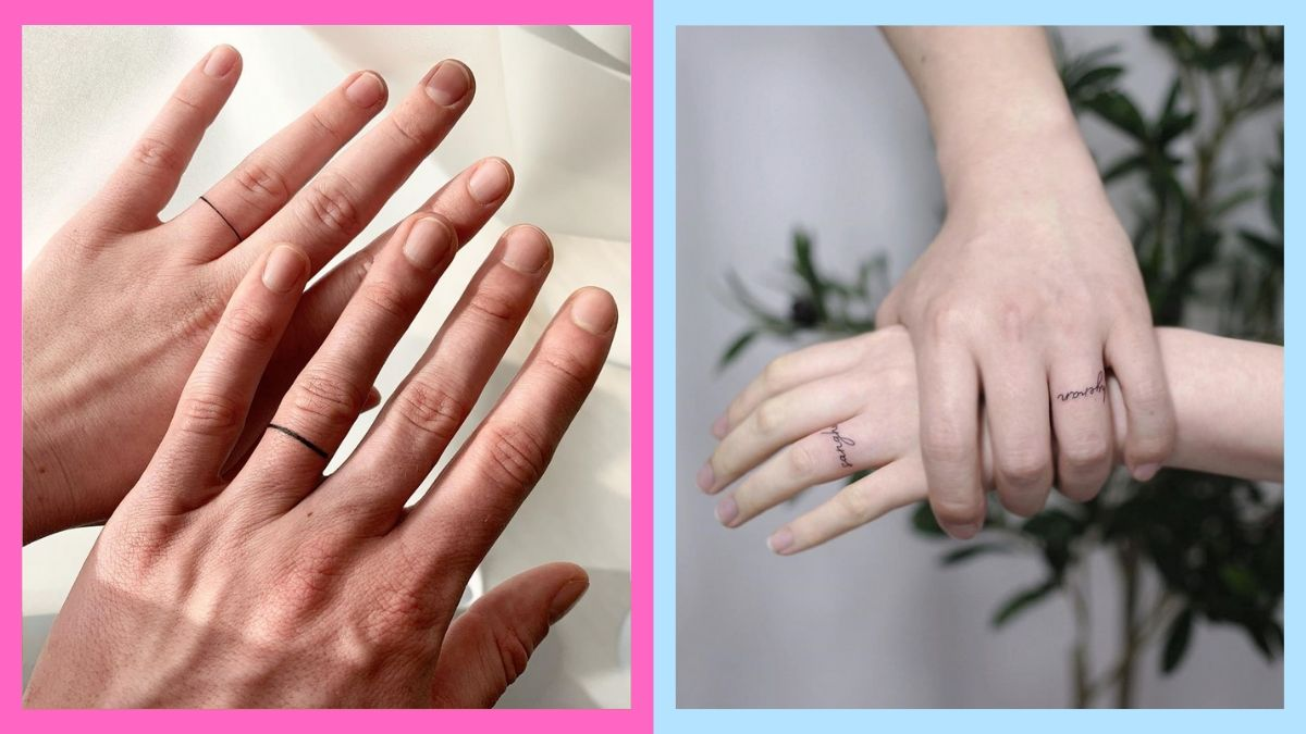 Beautful Ring Tattoo Design Ideas For Couples See more ideas about ring tattoos, tattoo wedding rings, finger tattoos. cosmo ph