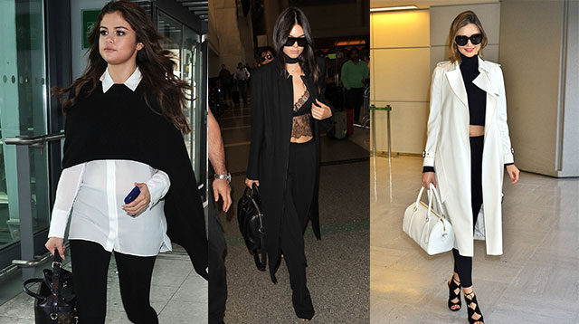airport ootds to copy from kendall  kylie  and more