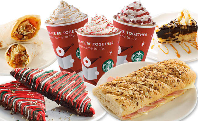Starbucks Christmas Menu.New Christmas Drinks Treats To Enjoy At Your Fave Coffee Place