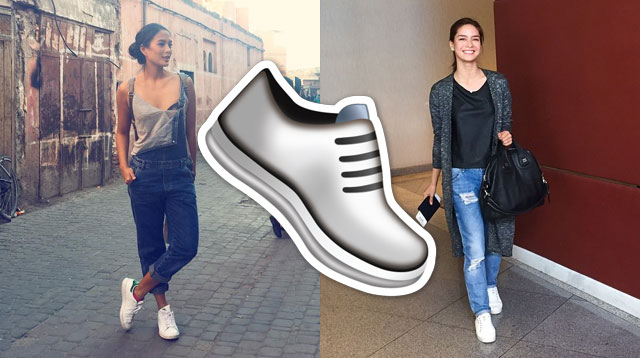 5b147cf72 14 Celebrities Who Prove White Sneakers Go With Everything