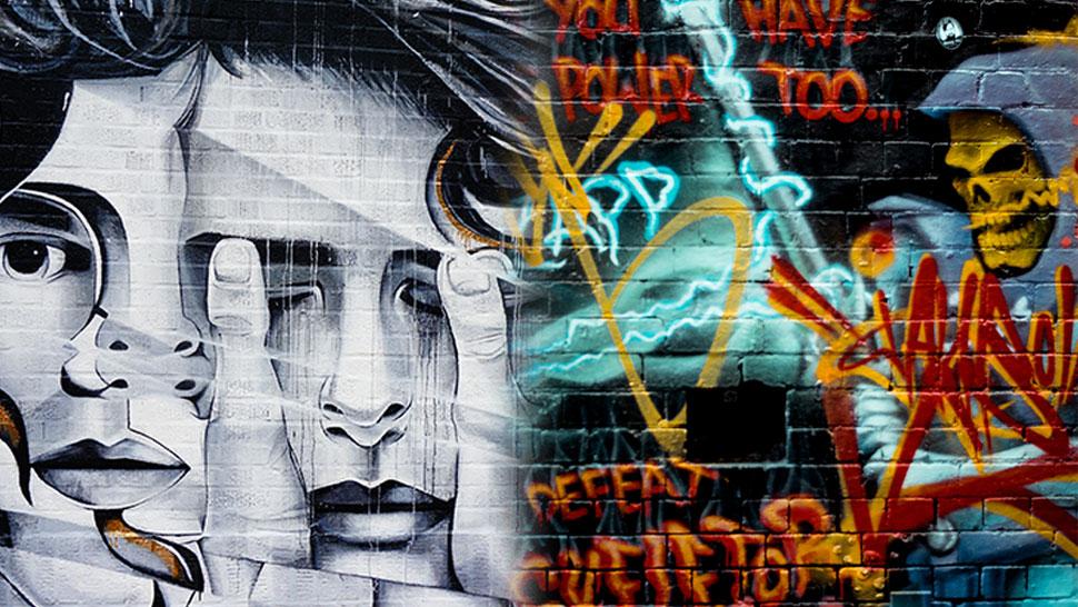 Public Art Space Graffiti Versus Murals