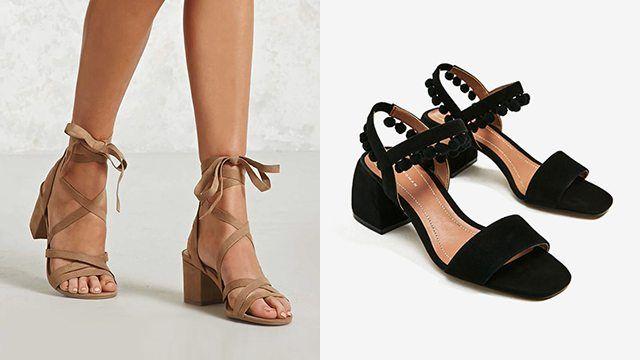e17392eb3a8 Chunky Block Heels That Won t Hurt Your Feet