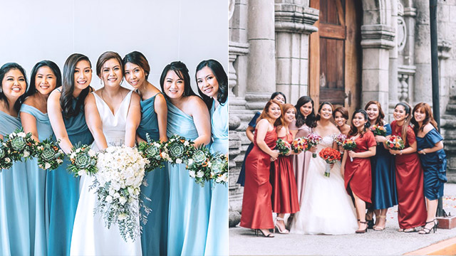 Mismatched Entourage Gowns 10 Color Combinations You Can