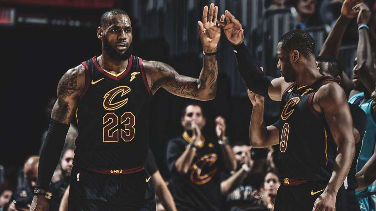 16ebc38763d4 Banana boat bros LeBron James and Dwyane Wade plus the rest of the Cleveland  Cavaliers are currently putting on a show with their 10-game winning streak  but ...
