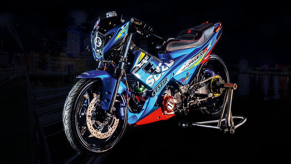This Souped Up Suzuki Raider R150 Is Not For The Faint Of Heart