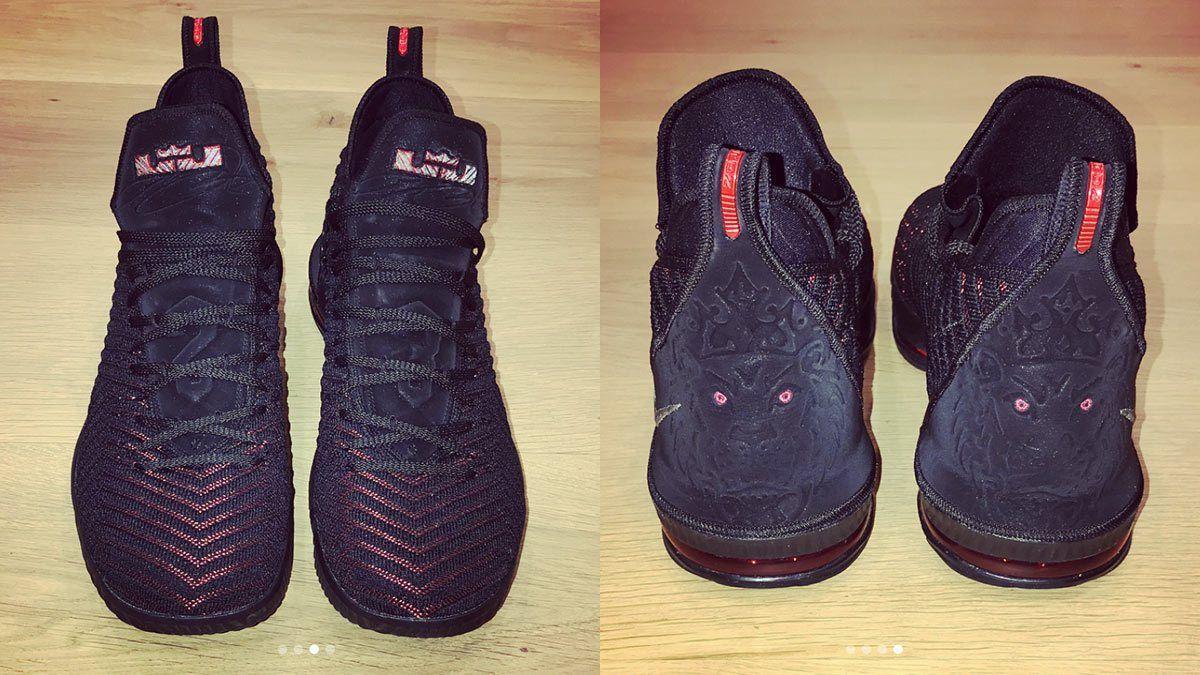 b60f21a929ab LeBron James Leaks The Nike LeBron 16  Bred  On Instagram