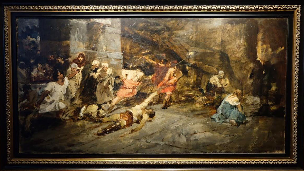 Is This A Real Boceto For Juan Luna's 'spoliarium'?