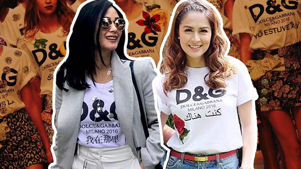 new product f09f2 3ac3a Did Marian Rivera Really Wear A Fake Dolce & Gabbana Logo Tee?
