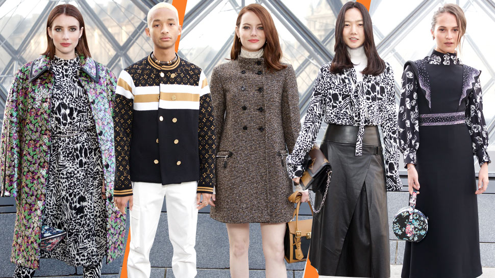 The Celebrities At The Louis Vuitton Women S F W 2019 Fashion Show