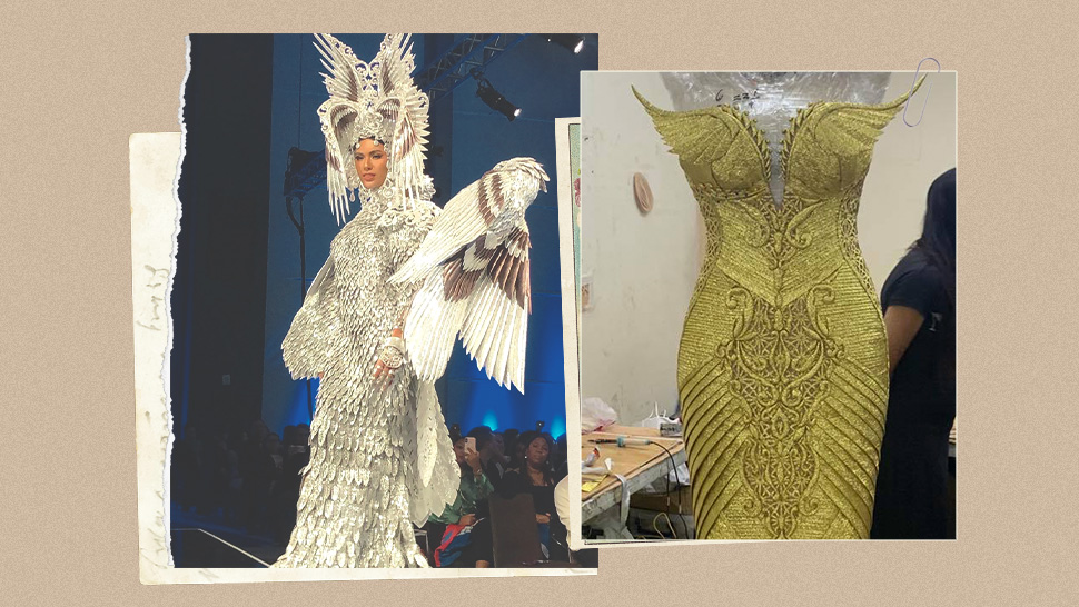 Gazini Ganados\u0027 Evening Gown And National Costume For Miss