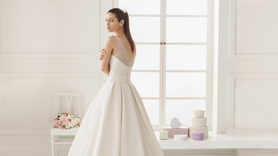 af2d06bd57a1 Rosa Clara's Timeless Wedding Dresses Are Perfect for the Practical Bride