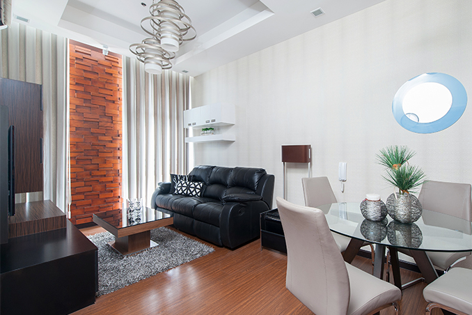 Small space solutions for a 40sqm condo in makati - Condo living room ideas philippines ...