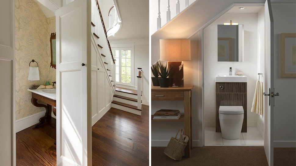 Expert Advice Building A Powder Room Under The Stairs