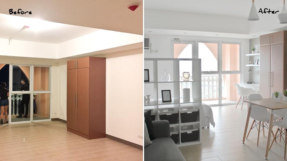 one bedroom condo interior design 1 bedroom condo unit interior design philippines Interior Designer: Claudine Medina