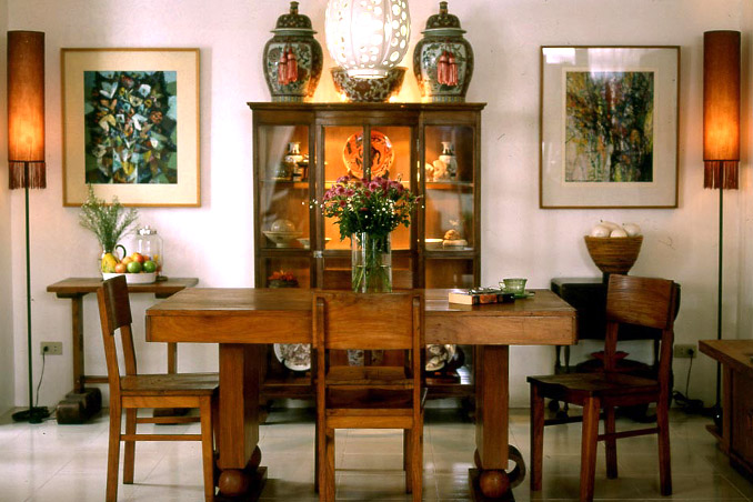 Antique Furniture And Abstract Art In An Urban Home