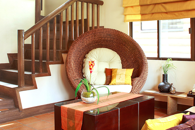 Contemporary Filipino Furnishings in a Tagaytay Log Cabin
