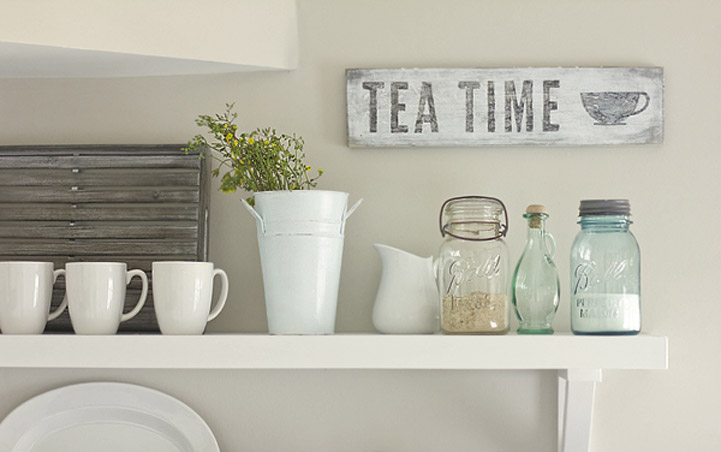 Shabby Chic Kitchen Signs : Diy: wood kitchen signs rl