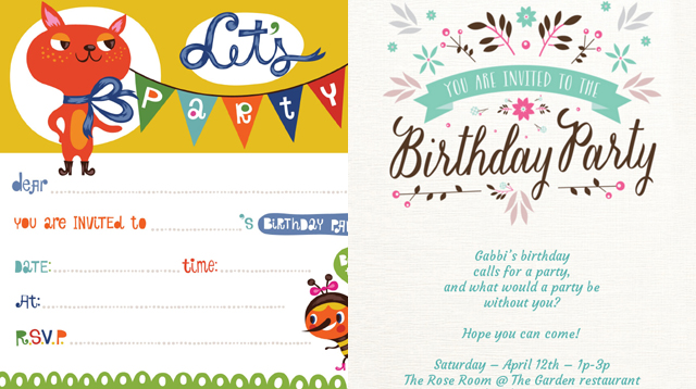 picture relating to Printable Party Invitations identify 15 Absolutely free Printable Childrens Birthday Social gathering Invites