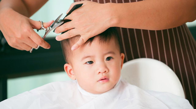 Image result for baby hair cut