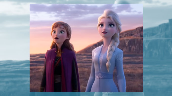 elsa with her hair down