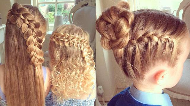 This Mom Gives Her Daughters The Best Hairstyles Ever Sp
