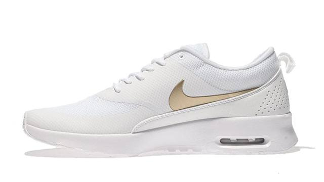 c3d08849bc08 Share. Share. ADVERTISEMENT - CONTINUE READING BELOW. The Nike Air Max Thea  in White Metallic Gold ...