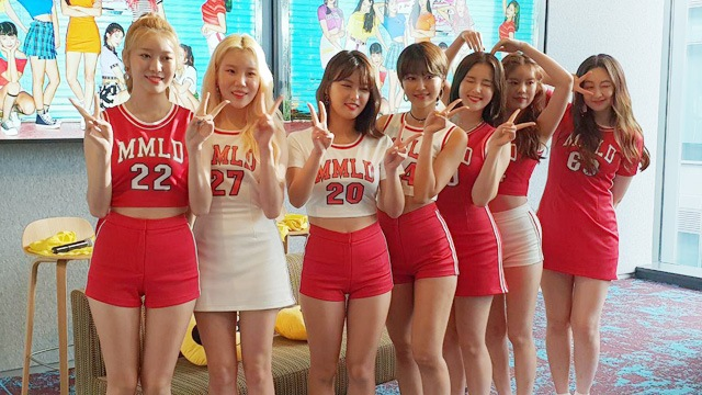 Photos of K-Pop Group Momoland in Manila Facebook Live Event