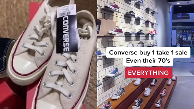 Where to Shop Buy-One-Take-One Converse
