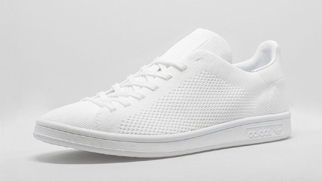 best authentic 33556 df02b Adidas Primeknit Stan Smith in Triple White