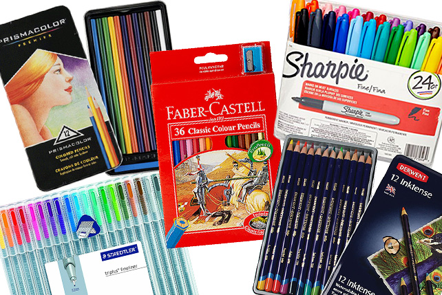 10 Pens Pencils And Markers You Can Use For Coloring