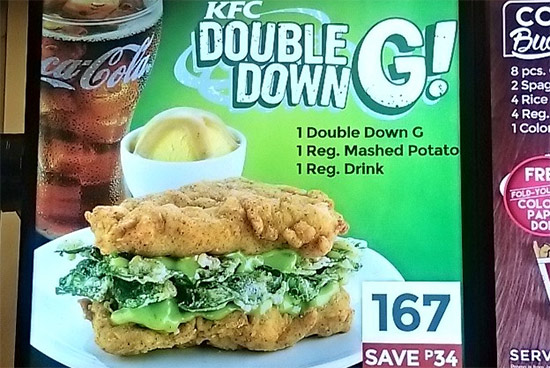 Spotted A Healthier Kfc Double Down Spotph