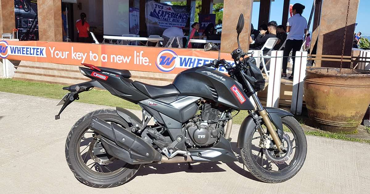 Wheeltek launches the new TVS Apache RTR 200