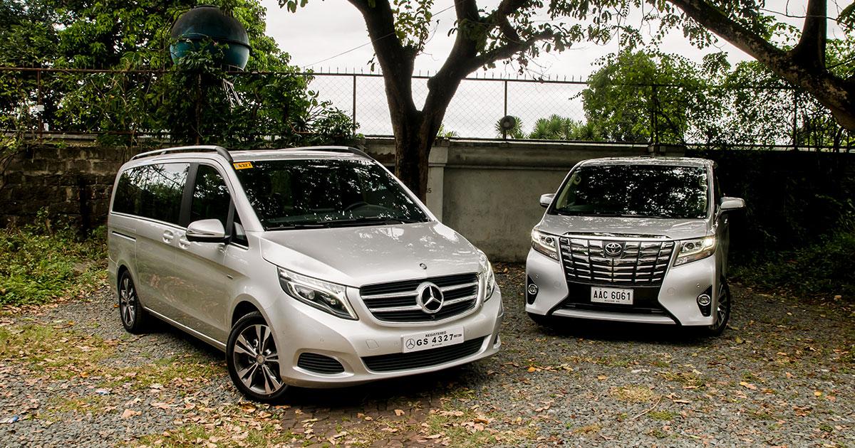Mercedes-Benz V-Class vs  Toyota Alphard