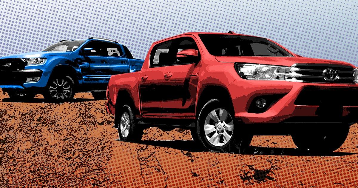 Mitsubishi Strada vs  Ford Ranger vs  Toyota Hilux vs  Chevrolet