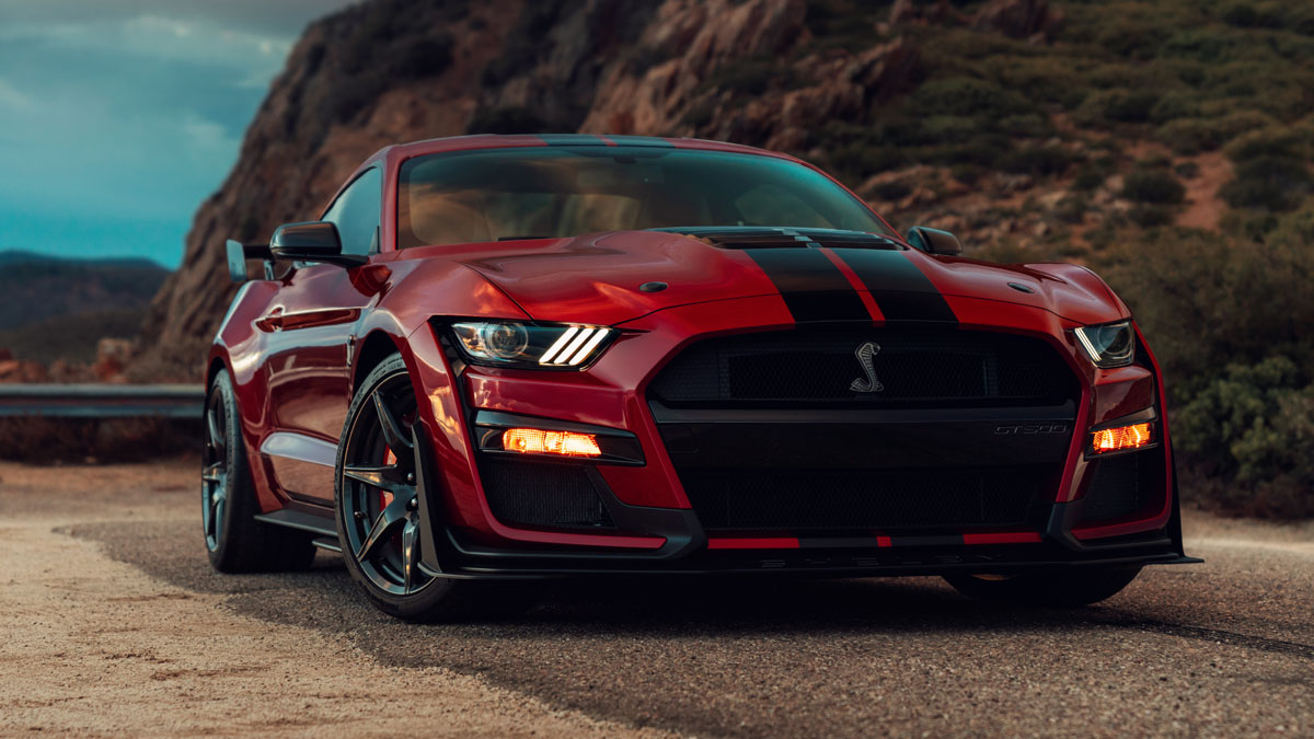 The new ford shelby mustang gt500s v8 produces over 700hp